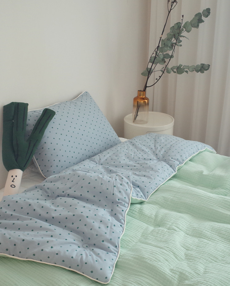I love mint bedding *아기 차렵이불
