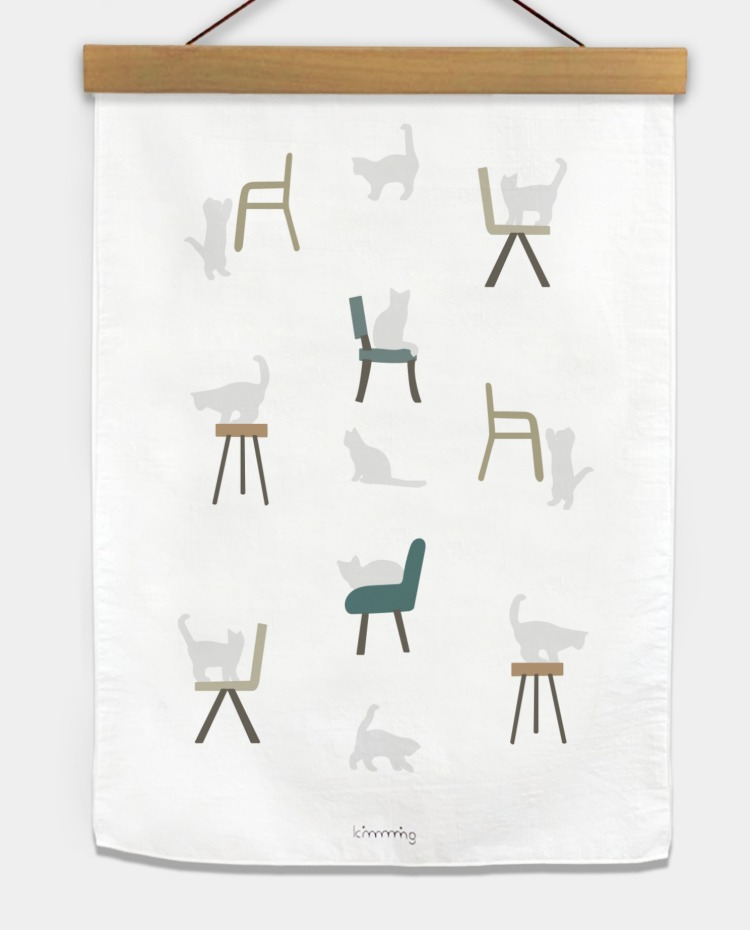 CAT CHAIR fabric poster