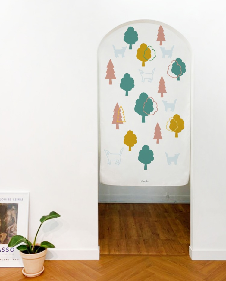 COLOR TREE fabric poster