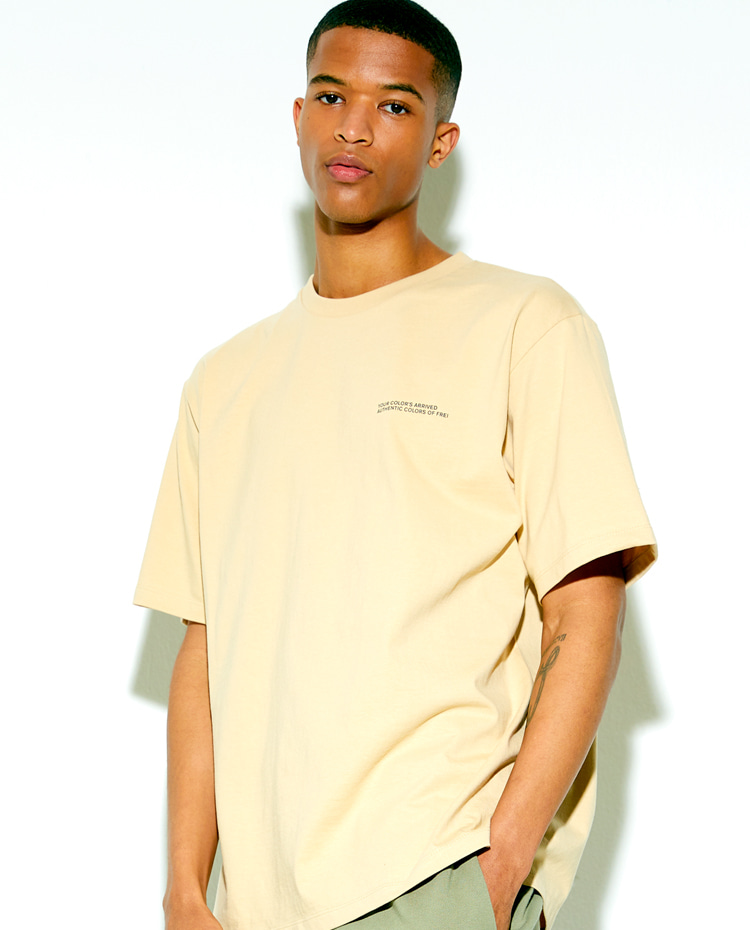 AUTHENTIC T-SHIRT(SAND BEIGE)