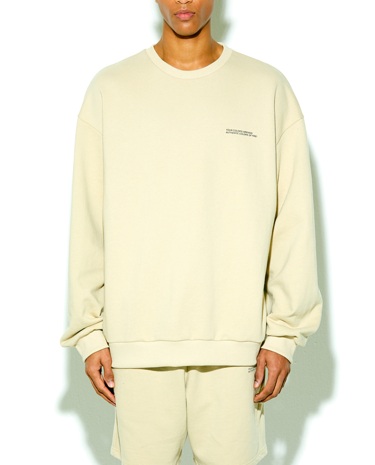 AUTHENTIC SWEATSHIRT(SAND BEIGE)