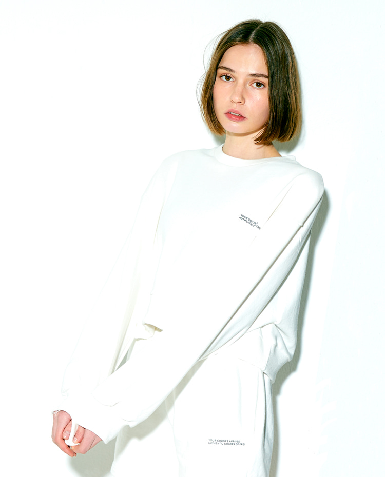CROPPED SWEATSHIRT(WHITE)