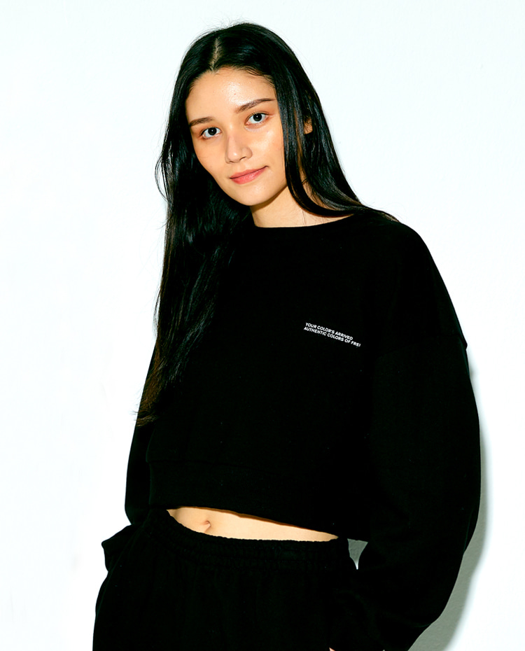 CROPPED SWEATSHIRT(BLACK)