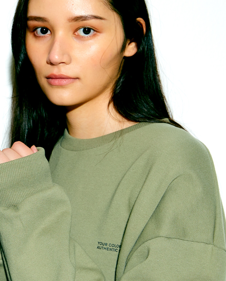 AUTHENTIC SWEATSHIRT(OLIVE)